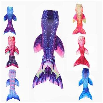 HOT! Ariel Mermaid Tail Cosplay Adult kid Girls Fashion Mermaid Tail  Swimsuit Swimming Tail sirene amazon