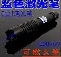 Super Poderosas! Ponteiro laser azul 500000m 500w 450nm queima jogo/papel/madeira seca/preto & queimar cigarros + changer caixa Lasers     -