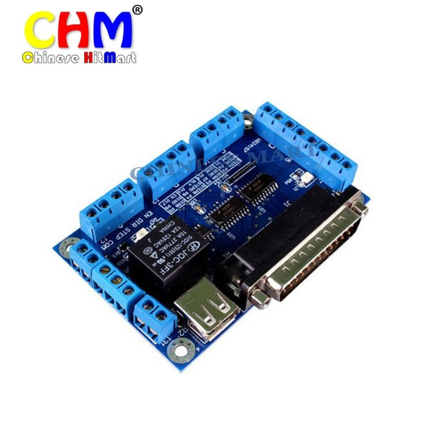 10 pçs/lote! EMC2 KCAM4 MACH3 5 eixos CNC Breakout placa de interface adapter board # E09095