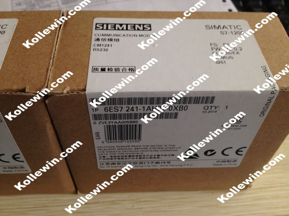 все цены на Freeship Original SIMATIC S7-1200 PLC Communication Module 6ES7241-1AH32-0XB0 CM1241 RS232,6ES7 241-1AH32-0XB0, 6ES72411AH320XB0 онлайн