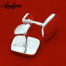 Cufflink Silver-Color Women Buttons Jewelry Shirt Square Hot-Sale Fashion