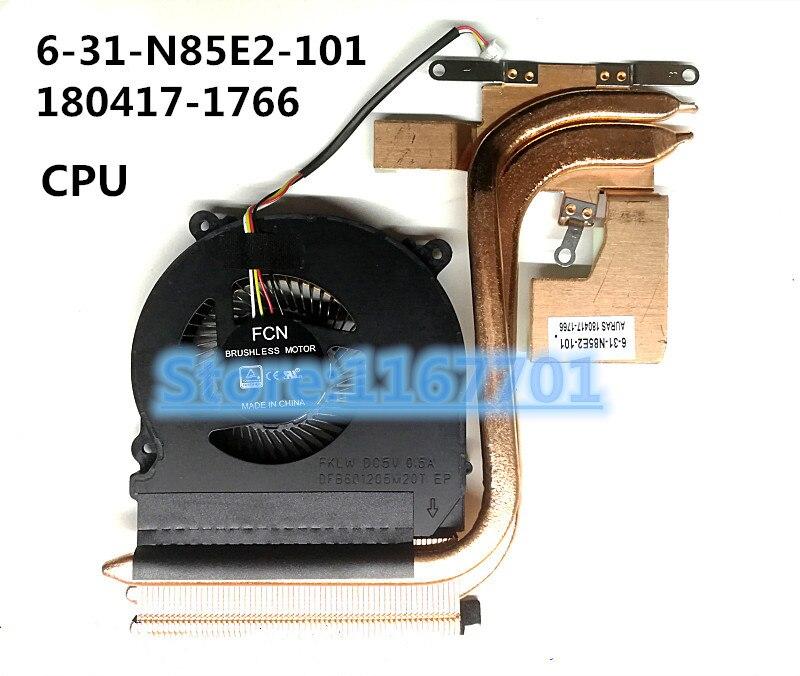 US $55 98  New ORG Laptop CPU/GPU cooling Radiator heatsink&Fan for Clevo  N850 N850EP 6 31 N85E2 101 180417 1766 6 31 N85E2 201 180426 2265-in Fans &