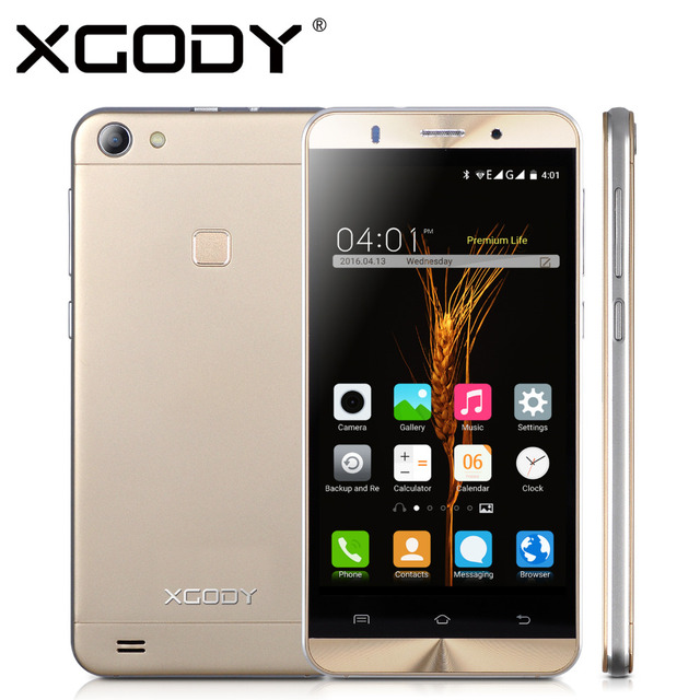 XGODY Smartphone 5'' Android 5.1 Quad Core RAM 768MB+ROM 8GB Telefone Celular With 5.0MP Camera Dual Sim Cards Cell Phone