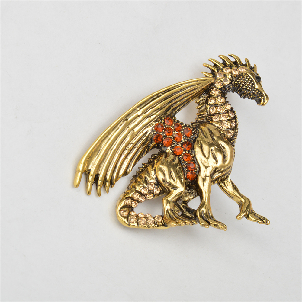 Jogos Vorazes manar lapel Pin Boorch Vintage Game of Throne Dragon - Märkessmycken - Foto 2
