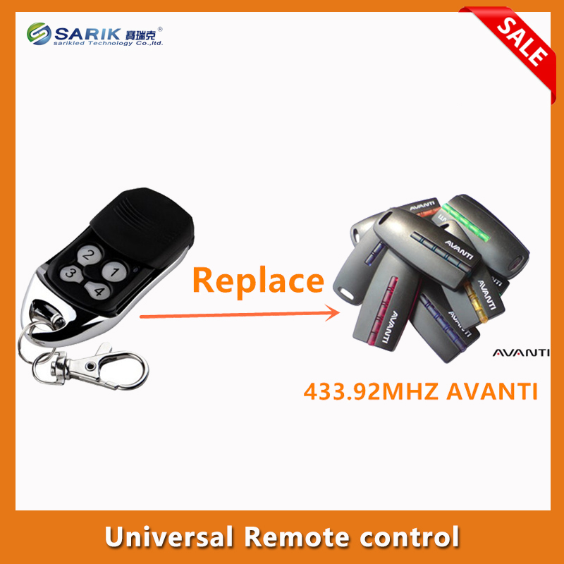 AVANTI gate garage door Remote Control AVANTI 433 92MHZ universal gate remote control