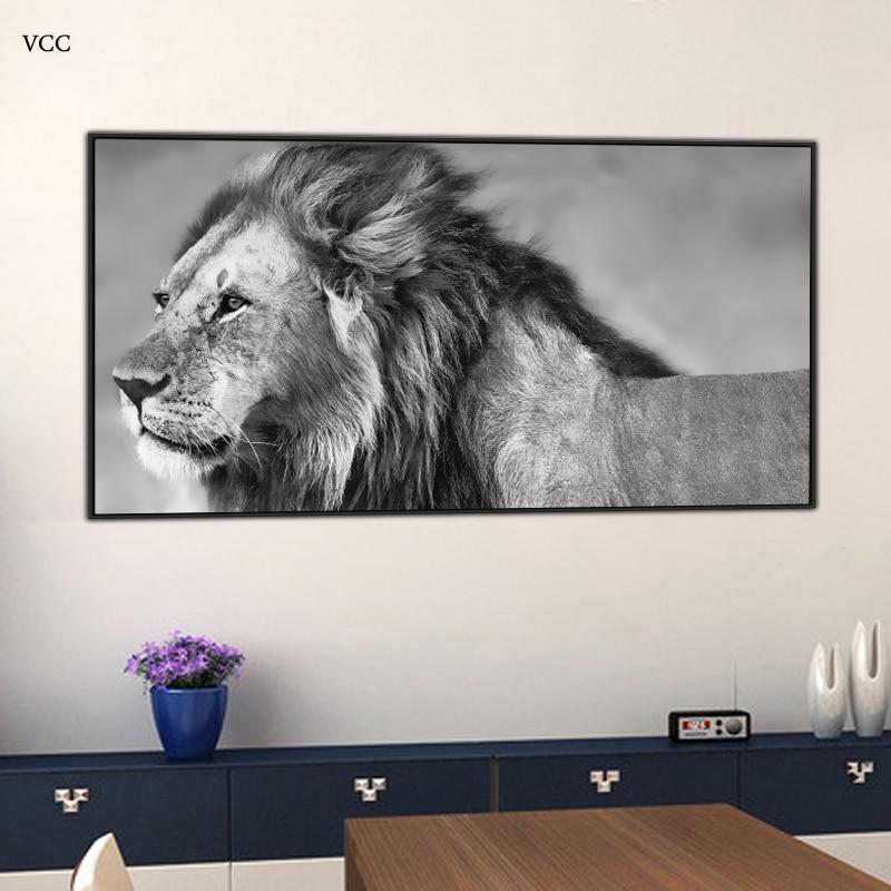 VCC Lion Animal Picture, nástěnné malby na plátně, nástěnné malby, obrazy na zdi, nástěnné obrázky do obývacího pokoje, bytové dekorace