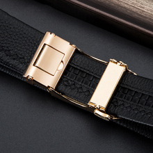 Genuine Leather Automatic Alloy Buckle Belt