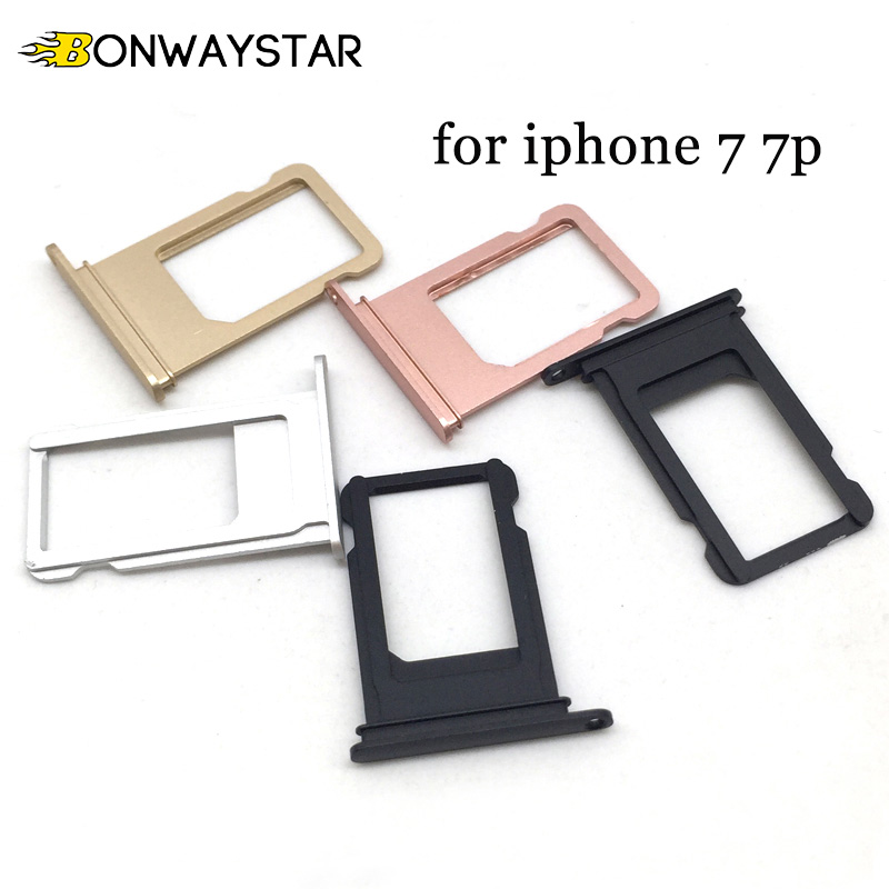 Micro Nano <font><b>SIM</b></font> Card Holder Tray <font><b>Slot</b></font> for iPhone 7 7plus Replacement Card Container Adapter Part <font><b>SIM</b></font> Card Tray Holder Socket image