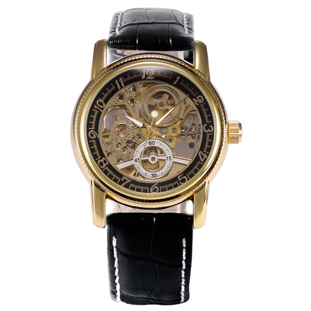 Orkina Luxury Mechanical Skeleton Wrist Watch Men Women Analog Mens Casual Watches Trendy Modern Wrist Watch Mechanic Automatic