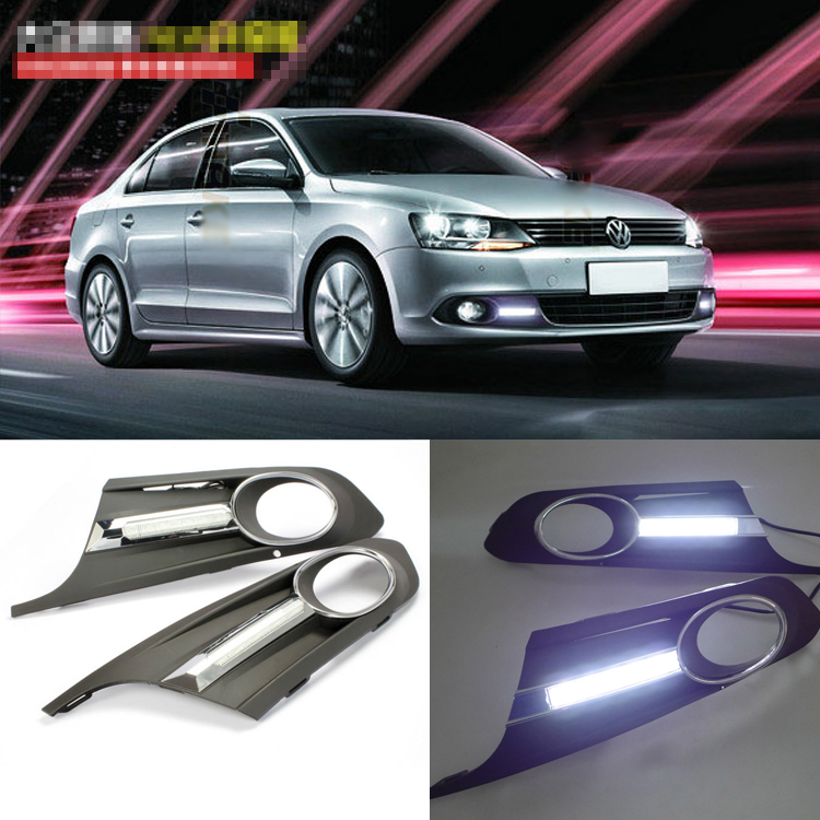 Brand New Updated LED Daytime Running Lights DRL With Black Foglights Cover For VW Sagitar 2012 люстра aurora белла 11002 3l