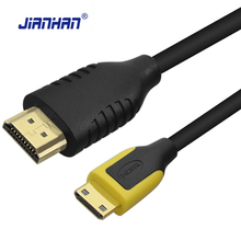 High Quality Mini HDMI to HDMI Cable 1m 2m 3m Male to Male 2.0V 0.2M-5M HDMI Cable 4K 3D for Tablet Camcorder Mini HDMI cable
