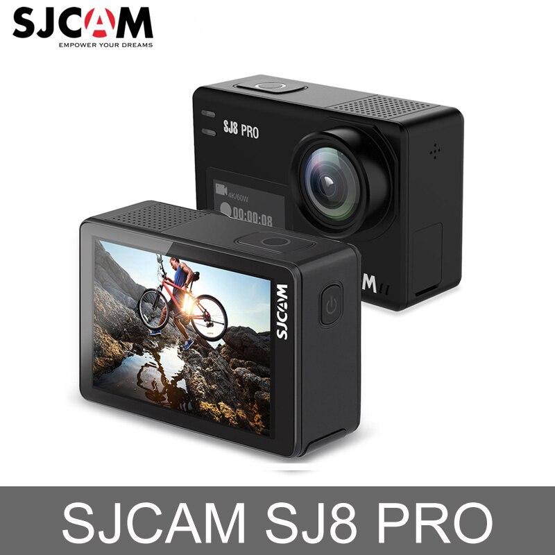 Original SJCAM SJ8 Pro Action Camera 4 K 60fps À Prova D' Água Câmera de Ação Esporte Wi-fi Câmera de Vídeo HD DVR Carro Remoto câmera
