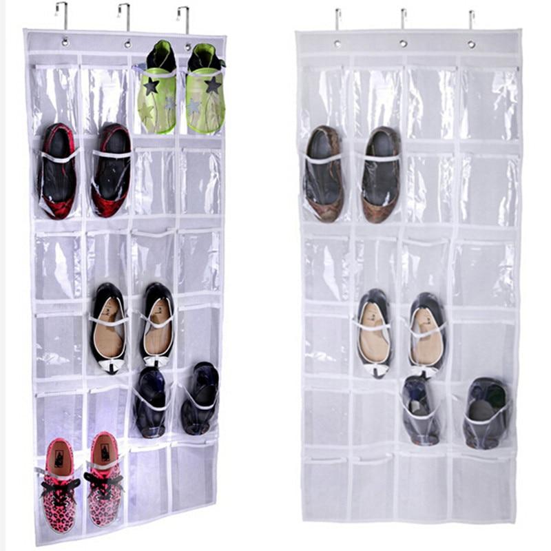 24pockets Hanging Shoe Bag Organizer Holder Storage Room Door Back Shoes Rack Hanger Tidy Organizor Bags Gi875465 In From Home