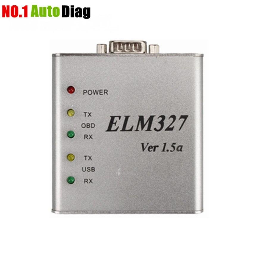 Prix pour Top Vente V1.5/V1.5a ELM327 Métal En Aluminium OBD2 Auto Outil De Diagnostic ELM 327 USB En Métal Interface Lecteur de Code Scanner