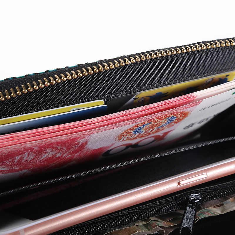 Annmouler Moda Kadın Cüzdan Rfid Malzeme el çantası Küçük Denizkızı Kart Sahipleri Fermuar Para Çantası Kızlar için