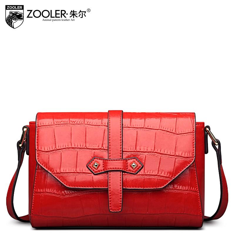 ZOOLER 2017 Fashion Crossbody Bag Women Elegant Evening Genuine Leather Bags Animal Pattern Red Bolsa Feminina High Quality