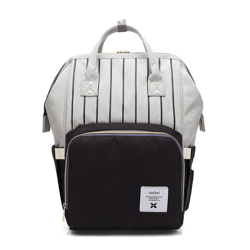 Stripes Baby Diaper Bag Large Baby Nappy Bag Backpack Maternity Bags Baby Care Changing Bag for Stroller Thermal Barrier
