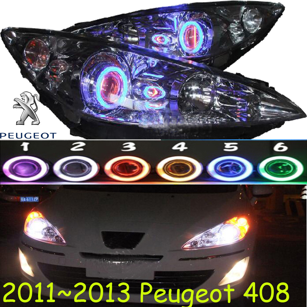 2011~2013 Peugeo 408 headlight,408,Fit for LHD and RHD,Free ship! 408 fog light,2ps/set+2pcs Aozoom Ballast; Peugeo408