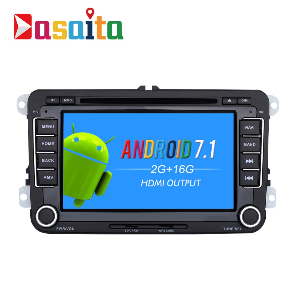 dasaita 7 android 7 1 car gps dvd player navi for vw golf. Black Bedroom Furniture Sets. Home Design Ideas