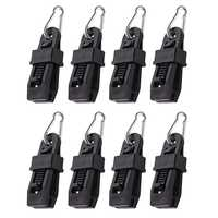 8Pcs Camping Tarp Clips Heavy-Duty With Carabiner-Sliding-Lock Grip-Great For Awnings Farming Garden Marine Automotive & More