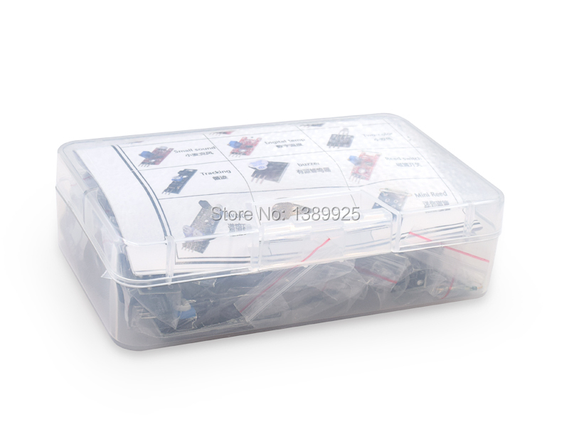 37 in 1 Sensor Kit For Arduino Starters  with plastic box ...