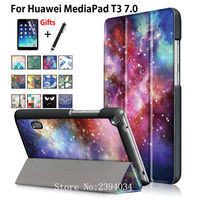 Luxury Fashion Cartoon Case For Huawei MediaPad T3 7 0 BG2 W09 Smart Cover Funda Tablet