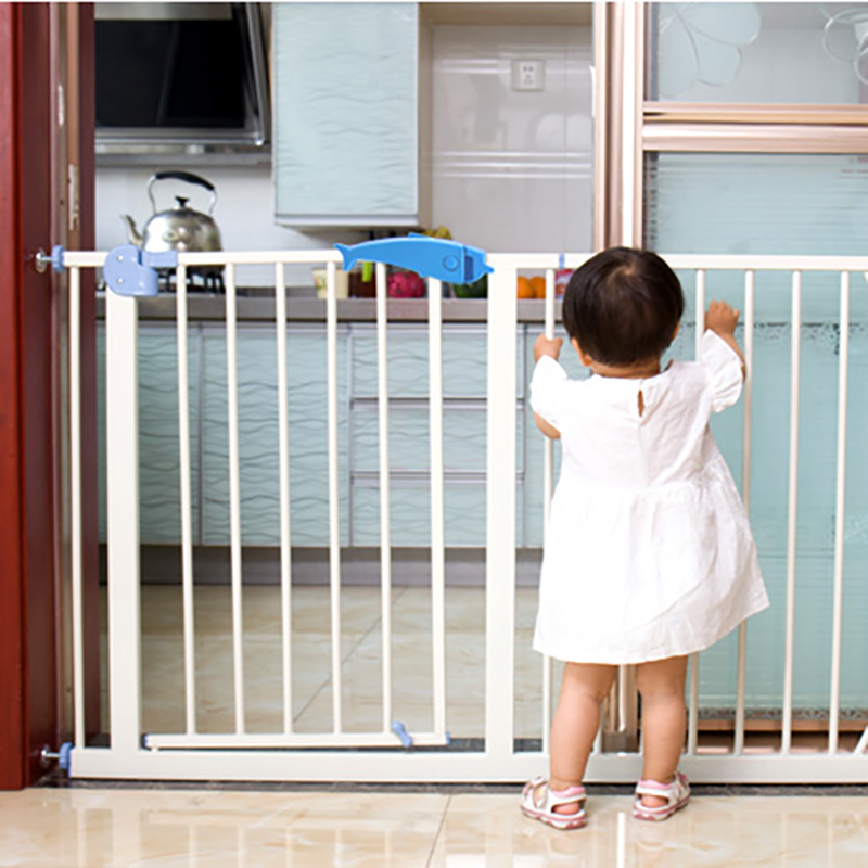 Baby Safety Gate Children Stairs Fence Kids Security Doorway Gate Baby Protective Product Iron  Dog Pet Isolation For Toddler