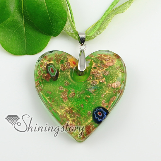 Valentines day heart millefiori dichroic glass necklaces pendants valentines day heart millefiori dichroic glass necklaces pendants colored cheap fashion jewellery handmade fashion jewlery in pendants from jewelry aloadofball Gallery
