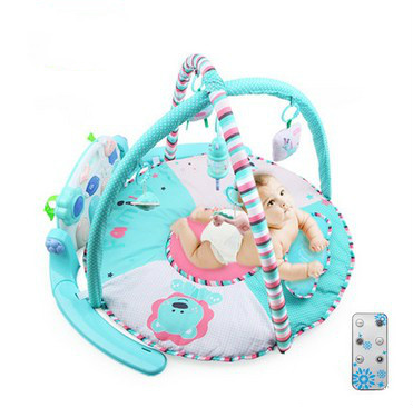Fitness rack baby music electric game blanket newborn baby game blanket toys with remote control
