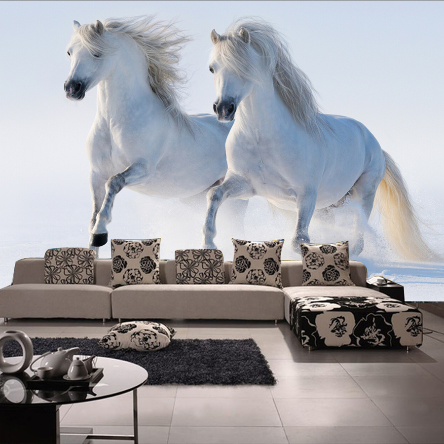 Popular horse wall murals buy cheap horse wall murals lots for Cheap wallpaper mural