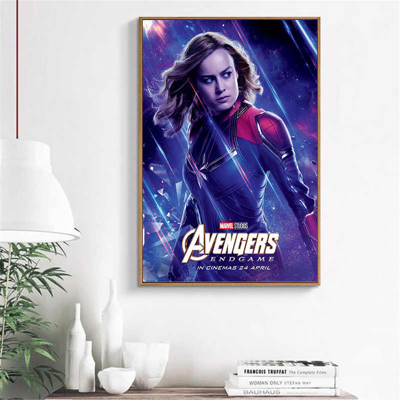 Marvel Poster Endgame Painting Wall Pictures for Living Room Character Thor Iron Man Banner Modern Decoration Movie Art