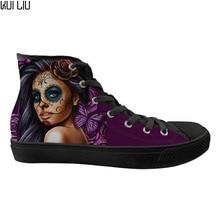 Zapatos planos personalizados Mujer Calavera Girl Day of The Dead