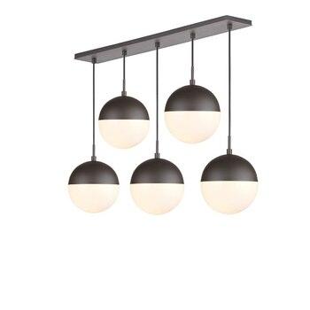 Lámpara Colgante De Bola De Cristal Negra De Luces Colgantes Modernas, Lámpara Colgante De Línea Larga Para Cocina, Sala De Estar, Accesorios De Iluminación De Globo Nórdico