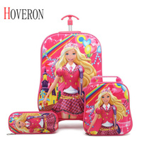 HOVERON 2019 Cartoon Kids Travel Trolley Bags Suitcase For Kids Children Luggage Suitcase Rolling Case Travel Bag On Wheels