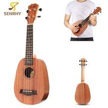 21 4 Strings Pineapple Style Mahogany Hawaii Ukulele Uke Electric font b Bass b font font