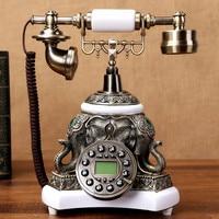 Ye Топ Европейский Сад ретро телефон антикварные телефон стационарный телефон домашний набрать номер украшения дома