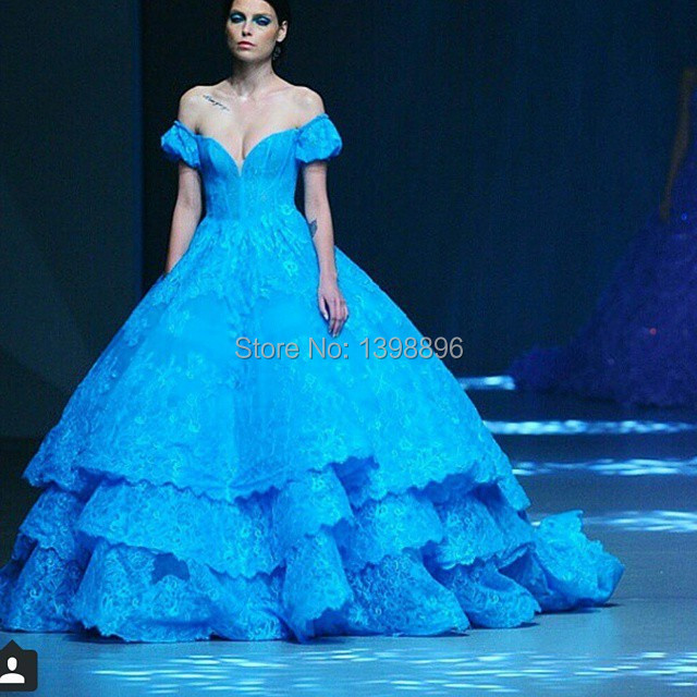 Blue Vintage Ball Gowns