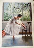 100% handpainted painting impression ballet dancer portrait oil painting landscape handmade oil painting wall art decor drawing