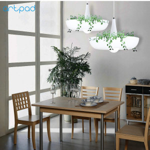 Image 2 - Artpad Nordic Babylon Plant Pendant Light AC90 260v E27 LED Living Room Garden Pendant Lamp for Dining Room Balcony Lighting