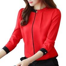 chiffon women Blouse Shirt 2019 Long Sle