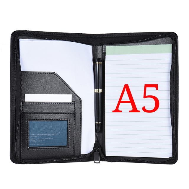 Portable business portfolio padfolio folder document case organizer portable business portfolio padfolio folder document case organizer a5 pu leather with business card holder memo colourmoves