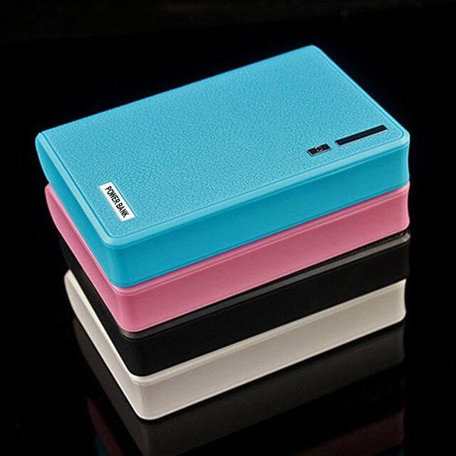Dual usb powerbank 18650 cargador 12000 mah banco de potencia para iphone 5 6 6 s 6 más 7 7 plus para samsung xiaomi huawei lg móvil teléfono
