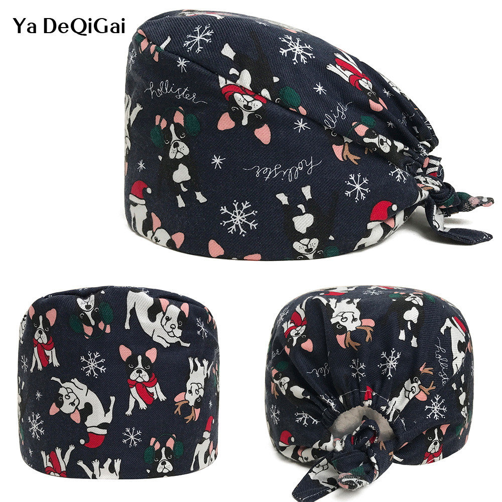Medical Surgical Caps Elastic Adjustable Size Surgery Scrub Caps Breathable Accessories Scrubs Medical Hats Unisex Wholesale New