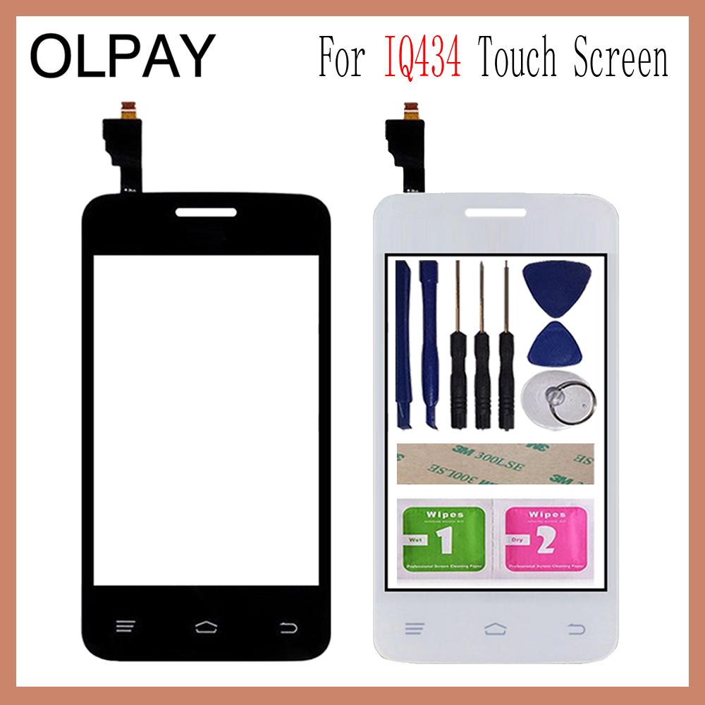 OLPAY 3.5'' For Fly IQ434 IQ 434 Touch Screen Digitizer Panel Repair Parts Touchscreen Front Glass Lens Sensor