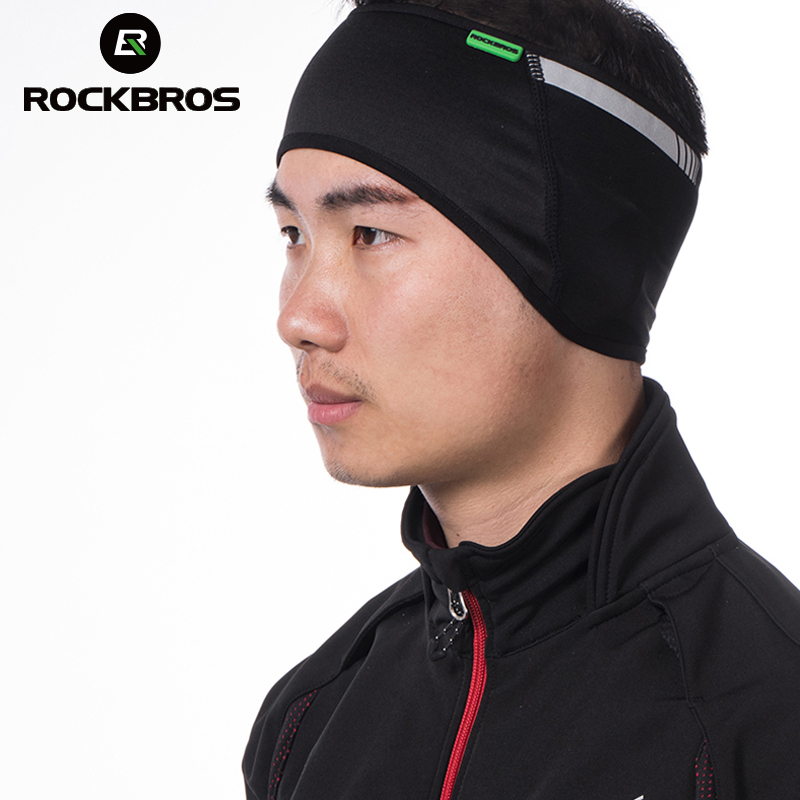 ROCKBROS Cycling Bike Outdoor Sports Headband Cap Hat Protector For Ear Winter Warm Fleece Bicycle Equipment Wear Tab Ear Warmer cat ear sequin headband