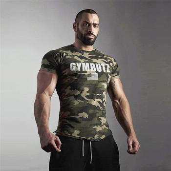 2019 Camo Sport T Shirt Men GYM Shirt Fitness Sports Tshirt Quick Dry Fit Running T-Shirt Men Bodybuilding Fitness Tees Tops