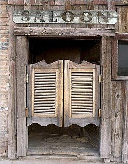 Mince vinyle tissu fond porte de grange photographie impression de fond western saloon portes - Porte de saloon ...
