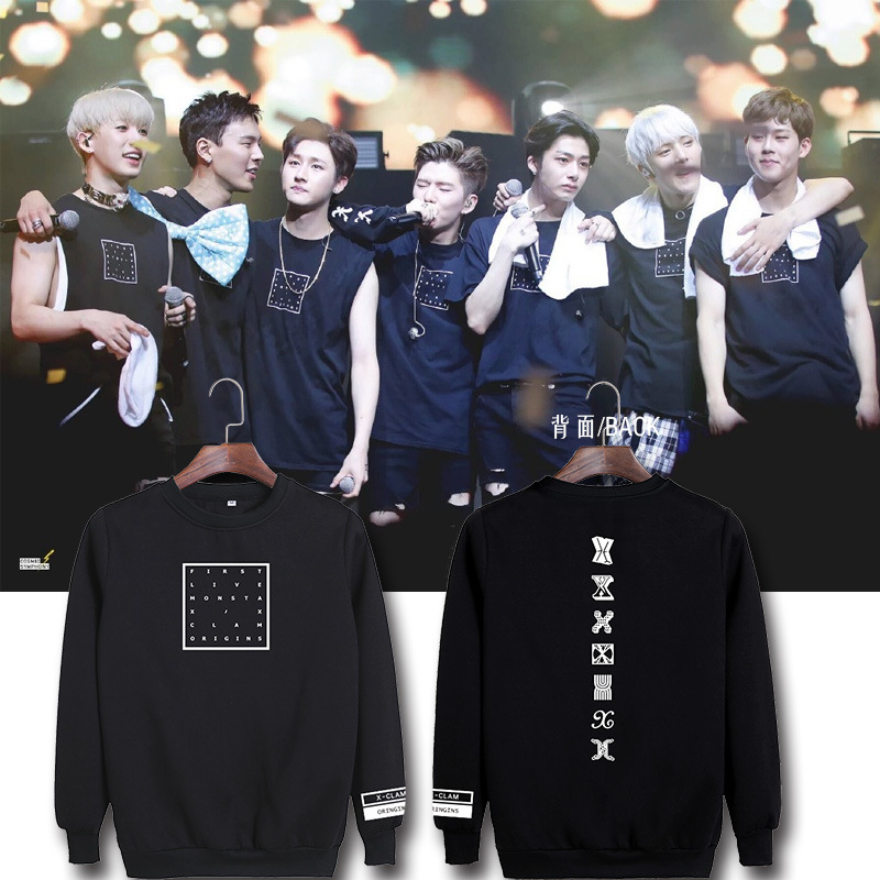 MONSTA X FAN MEETING Concert Sweater With Men And Women With Round Neck Pullover Sweater Dropshipping
