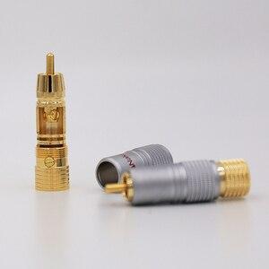 Image 5 - 8 pièces Nakamichi 24K plaqué or RCA connecteur de câble Audio