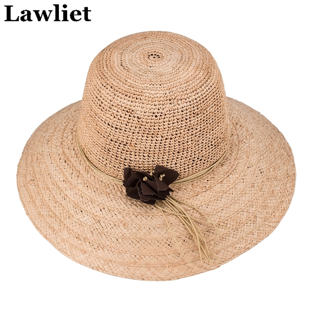b03903007774c Chapeu Feminino Straw Hat Summer Hats for Women Nice Wide Brim Floppy Hats  Female Beach Hat